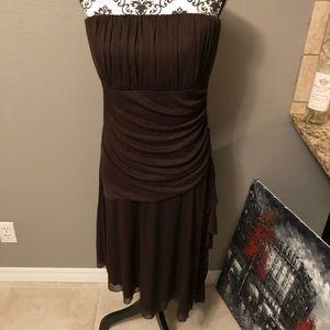 Xl Chocolate Brown strapless dress
